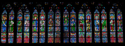 Stained glass window. In Church Royalty Free Stock Photos