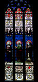 Stained glass window. In the Notre Dame de Luxembourg Royalty Free Stock Photos
