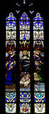 Stained glass window. In the Notre Dame de Luxembourg Royalty Free Stock Photo