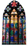 Stained glass window. In Saint Vitus cathedral royalty free stock image