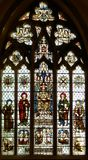 Stained glass window. In winchester cathedral england Stock Image
