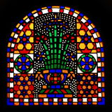 Stained Glass Window. In the Hanging Church in Cairo Egypt stock photos