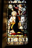 Stained Glass window. Coloured Glass stock images