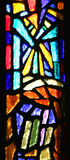 Stained-glass window. One of stained-glass windows in temple . Nazareth Stock Photos