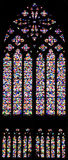 Stained glass window. Stained glass of gothic window in Cologne Dom Stock Photography