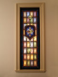 Stained Glass Window. With cross Stock Photography