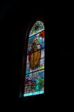 Stained Glass Window. Stained glass church window royalty free stock images