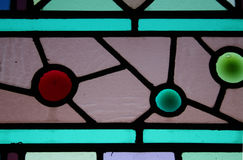 Stained Glass Window. Detail. Circa 1880 royalty free stock photo