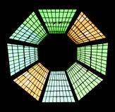 Stained glass window. With regular geometrical shape Stock Images
