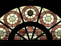 Stained glass window. Photo of stained glass window Stock Image