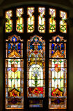 Stained Glass Window. Old stained glass window in church Stock Photography