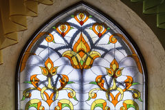 Stained glass window with  abstract pattern. Royalty Free Stock Photos