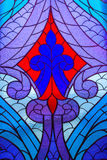 Stained glass window with  abstract pattern. Royalty Free Stock Photography