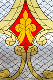 Stained glass window with  abstract pattern. Stock Photography