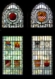 Stained glass. Window in Altena Burg, Germany Royalty Free Stock Image