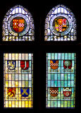 Stained glass. Window in Altena Burg, Germany Stock Images