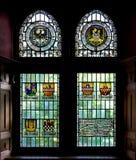 Stained glass. Window in Altena Burg, Germany Stock Photo