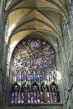 Stained glass window of Amiens Cathedral, France Royalty Free Stock Photography