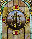 Stained Glass Window: Anchor Image Stock Photos