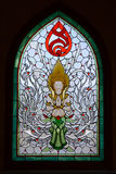 Stained glass window of angel . Stock Image