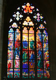 Stained-glass Window In Antique European Cathedral Royalty Free Stock Images