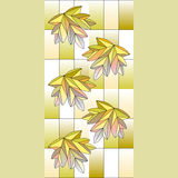 Stained glass window background. Vector stained glass window background Stock Photos