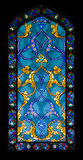 Stained-glass window. Backgrounds and textures: stained-glass window, abstract colorful pattern Royalty Free Stock Photography