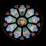 Stained Glass Window. Beautiful  stained glass window,  St. Lambertus, Mettmann, Germany Royalty Free Stock Photo