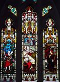 Stained glass window. Beautiful stained glass windows in a church Stock Photo