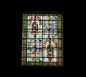 Stained glass window.  Benedictine Palace Museum In Fecamp Royalty Free Stock Images