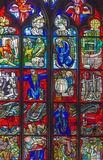 Stained-glass window. In Bern cathedral, Switzerland Stock Photo