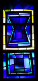 Stained glass window (Blue) Royalty Free Stock Images