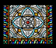 Stained glass window (Brittany,France) royalty free stock photo
