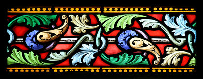 Stained glass window (Brittany,France) Stock Image