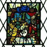 Stained Glass Window At Bunratty Castle Ireland Stock Photo