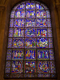 Stained Glass Window in Canterbury Cathedral Royalty Free Stock Photos