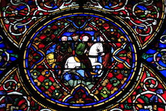Stained Glass window Canterbury Cathedral Stock Photo