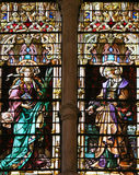 Stained Glass window in the Cathedral of Burgos Stock Photography