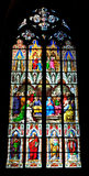 Stained Glass Window, Cathedral of Cologne Royalty Free Stock Image