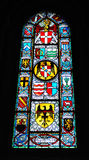 Stained glass window in cathedral, Switzerland Royalty Free Stock Photos
