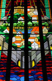 Stained glass window of the cathedral of Visby Stock Photos