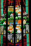 stained glass window of the cathedral of Visby Stock Image