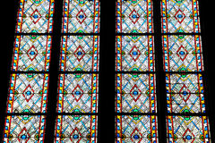 Stained glass window of the Cathedrale Notre Dame Royalty Free Stock Photo
