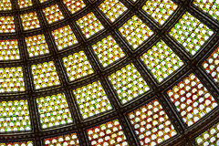 Stained glass window ceiling dome Stock Photo