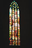 Stained-glass window. Of chapel in Europe Stock Images