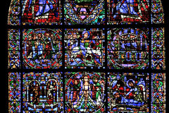 Stained Glass Window, Chartres Cathedral Royalty Free Stock Photography