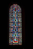 Stained Glass Window, Chartres Cathedral. A full length view of one of the stained glass windows from Chartres Cathedral, France Royalty Free Stock Images