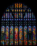 Stained glass window in Chester Cathedral, UK. Stained glass window of the Chester Cathedral, United Kingdom Royalty Free Stock Photos