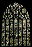 Stained glass window in Chester Cathedral, UK. Stained glass window of the Chester Cathedral, United Kingdom Royalty Free Stock Photo