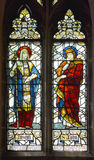 Stained glass window in Christ Church Cathedral Royalty Free Stock Photo